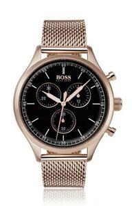 【送料無料】腕時計 ヒューゴボスメンズローズゴールドused hugo boss hb 1513548 mens rose gold companion watch 1 week old