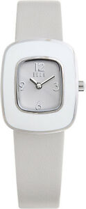 【送料無料】腕時計 ミニレトロウォッチスチールホワイトレザーストラップelle watch w1219 mini retro steel amp; white white leather strap