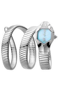 stainless キャバリグラムシックステンレススチールjust steel wristwatch jc1l022m0115 cavalli womens chic 【送料無料】腕時計 glam