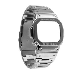 【送料無料】腕時計 ブランドカスタムメタルブレスレットベゼルbrand custom metal bracelet and bezel for dw5600,gb5600,gwx5600