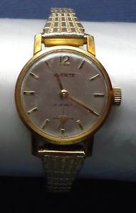 【送料無料】腕時計 レディースストラップビンテージladies everite watch 17 jewels amp; speidel us strap vintage