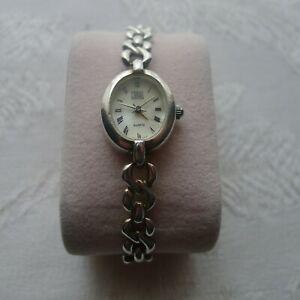【送料無料】腕時計 スターリングシルバーブレスレットladies carvel sterling silver bracelet watch