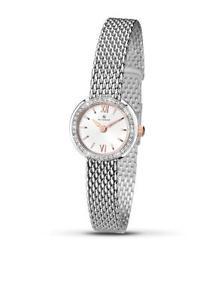 【送料無料】腕時計 レディースステンレススチールブレスレットウォッチaccurist ladies 8060 stainless steel bracelet stone encrusted watch rrp 8000