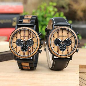 【送料無料】腕時計 ボボステンレススチールビンテージクリスマスbobo bird stainless steel watches vintage wooden watch xmas gifts for him father