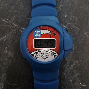 【送料無料】腕時計 レトロcat in the hat dr seuss retro wrist watch, theodor geisel used in good cond