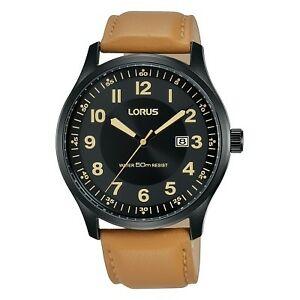 【送料無料】腕時計 レザーストラップウォッチlorus gents leather strap watch  rh953hx9