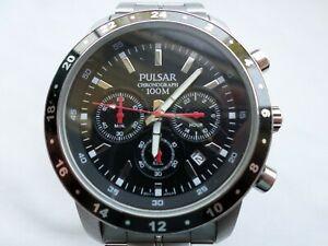 【送料無料】腕時計 パルサークロノグラフクォーツpulsar vd53x055 chronograph 100m gents quartz watch 2