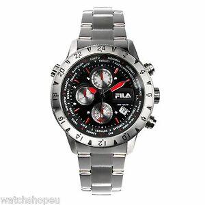 【送料無料】腕時計 フィラメンズクロノグラフ fila 38007001 mens chronograph watch 2 year warranty