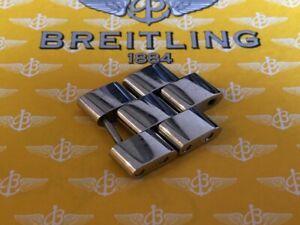 【送料無料】腕時計 ワイドステンレススチールリンクtwo genuine breitling links 20mm in polished steel