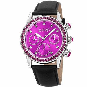 【送料無料】腕時計 シュタイナーストラップwomens august steiner as8236pk multifunction 24 hour indicator date strap watch