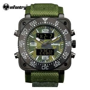 【送料無料】腕時計 デジタルクォーツinfantry military watch men digital quartz wristwatch men army watch