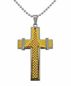 【送料無料】アクセサリー ネックレスネックレスステンレススチールクロスクリスマスlas seoras joyera collar acero inoxidable oro plateado cruz mujer regalo de navidad