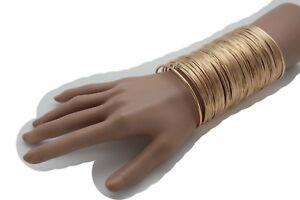 【送料無料】アクセサリー ネックレスファッションジュエリーバルクブレスレットnuevo de mujer metal dorado largo ancho pulsera de mueca fashion jewelry grueso