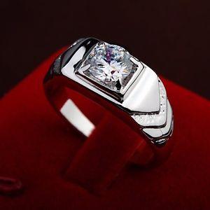 【送料無料】アクセサリー ネックレスシルバーリングkホワイトゴールドクリスタルクリスマスhombres anillo de plata oro blanco 18k cristal regalo regalo navidad