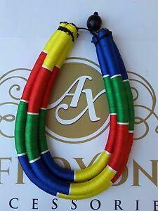 送料無料 アクセサリー 与え ネックレストリプルアフリカマルチカラーネックレスハンドメイドパイプアクセサリafricano negrita multi color triple collar a accesorios hecho tubo mano afroxone 売り込み