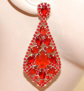 送料無料 アクセサリー ネックレスロッシイヤリングネットワークorecchini rossi donna cristalli pendenti lunghi strass eleganti red earrings bb4KTFc13lJ
