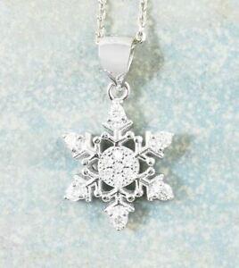 【送料無料】アクセサリー ネックレススノーフレークネックレスクリスマスcopo de nieve collar invierno navidad vacaciones xmas plata ley cristales wh571