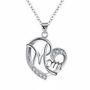 【送料無料】アクセサリー ネックレスクリスマスジュエリーシルバーネックレスregalo de joyera collar de plata mom mom mom madre para navidad