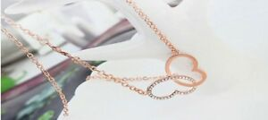 【送料無料】アクセサリー ネックレスゴールドピンクハートネックレスクリスマスlas seoras joyera oro rosado plateado regalo de amor de la mujer de collar corazn navidad