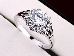 【送料無料】アクセサリー ネックレスホワイトゴールドリングクリスタルクリスマスlujo anillo oro blanco 18k chapado cristal anillo de compromiso regalo navidad