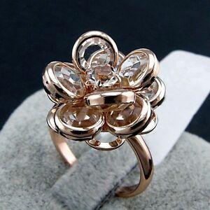 【送料無料】アクセサリー ネックレスピンクゴールドリングガラスクリスマスlujo anillo mujer oro rosa 18k chapado cristal regalo navidad idea de nuevo