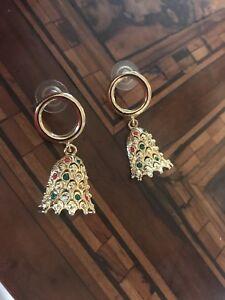 【送料無料】アクセサリー ネックレスクリスマスイヤリングビンテージrare christmas earrings orecchini di natale vintage