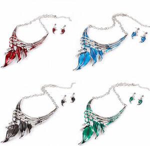 【送料無料】アクセサリー ネックレスクリスマスネックレスイヤリングジュエリーシルバーセットset de joyera de regalo para navidad plata plateado rojo grn blau pendientes collar