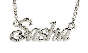 【送料無料】アクセサリー ネックレスホワイトゴールドメッキネックレスアクセサリクリスマスcollar chapado en oro blanco 18k con los accesorios nombre sashapersonalizado navidad