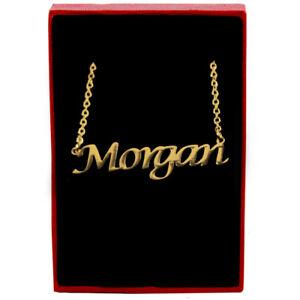 【送料無料】アクセサリー ネックレスネックレスチェーンカスタムクリスマスmorganoro nombre collar joyera cadena navidad regalos personalizados