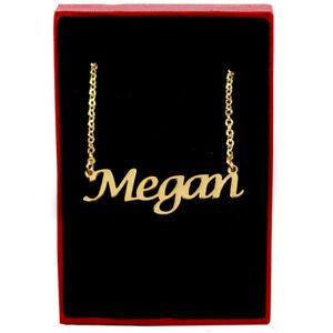 【送料無料】アクセサリー ネックレスネックレスチェーンカスタムクリスマスmeganoro nombre collar joyera cadena navidad regalos personalizados