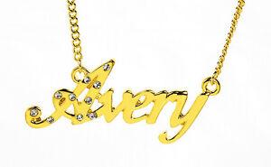 【送料無料】アクセサリー ネックレスゴールドメッキガールフレンドクリスマスネックレス18k chapado en oro con collar con nombre averyjoyas novia cumpleaos navidad