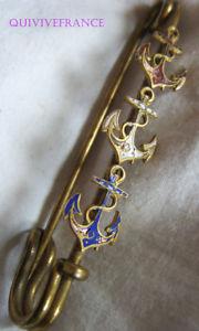 【送料無料】アクセサリー ネックレスbg8554 grosse epingle ancres tricolores