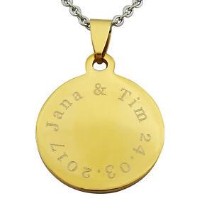 【送料無料】アクセサリー ネックレスゴールドチェーンステンレススチールペンダントクリスマスcadena grabado oro de acero inoxidable de regalo colgante para deseo de navidad