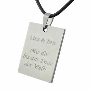 【送料無料】アクセサリー ネックレスクリスマスシルバーペンダントステンレススチールdeseo regalo de collar de cuero plata de grabado de acero inoxidable colgante en navidad