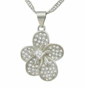 【送料無料】アクセサリー ネックレスクリスマスネックレスシルバージュエリープラチナシルバーregalo de flores damas joyera collar flor plateado platino plata para la navidad