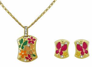 【送料無料】アクセサリー ネックレスネックレスイヤリングクリスマスゴールドセットjoyas set collar aretes mujer dorado flores regalo para navidad