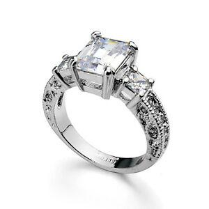 【送料無料】アクセサリー ネックレスリングホワイトゴールドコミットメントクリスマスクリスタルlujo anillo mujer oro blanco 18k chapado cristal de compromiso regalo navidad