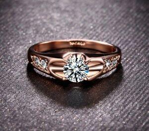 【送料無料】アクセサリー ネックレス リングピンクゴールドクリスマスクリスタルlusso anello oro rosa 18k pl cristallo di fidanzamento regalo natale presente