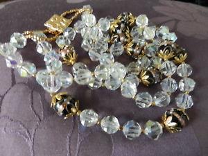 【送料無料】アクセサリー ネックレス コリアービンテージベルcollier fantaisie vintage de 2 rangs avec perles en verre tres bel effet