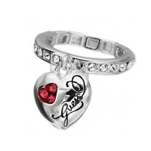 【送料無料】アクセサリー ネックレス リングリングメッシュguess anello donna jewels ubr12002s anello a maglie elastico acciaio cristalli