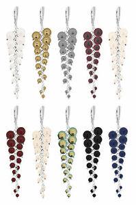【送料無料】アクセサリー ネックレス イヤリングクリスタルスワロフスキーフックargento sterling orecchini lunghi ganci realizzati con perle 5810 cristalli swarovski