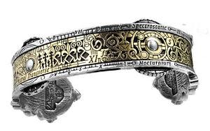【送料無料】アクセサリー ネックレス ゴシックカフgenuine alchimia gotico uomo steampunk braccialespectrostatic nocturnium