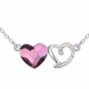【送料無料】アクセサリー ネックレス ネックレスチェーンシルバーネックレスcollana cuore a cuore argento collana da donnada donna catena donne amore matrimonio love