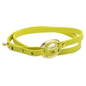 【送料無料】アクセサリー ネックレス スキンステンレススチールゴールドブレスレットguess donna bracciale in pelle giallo in acciaio inox oro ubb12238