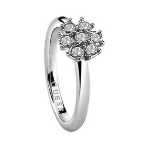 【送料無料】アクセサリー ネックレス ステンレススチールシルバークリスタルリングguess da donna anello in acciaio inox cristallo argento ubr28517