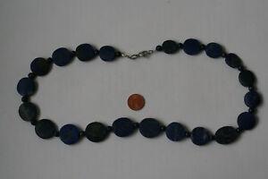 【送料無料】アクセサリー ネックレス ラピスラズリチェーンボールlapis lazulicatena moneta ovale sfera, l 54cm l0080l
