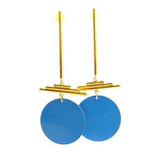 【送料無料】アクセサリー ネックレス ピンイヤリングレビーorecchini a perno da dorato con colori blu, di ctia levy