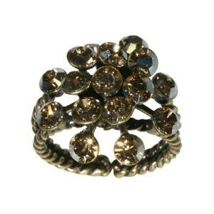 【送料無料】アクセサリー ネックレス リングディスクベージュクリスタルkonplott anello magic fireball beige cristallo ombre decorativa dorata