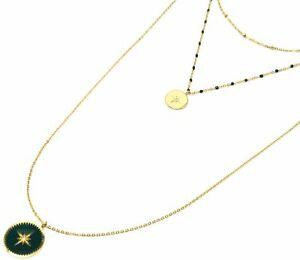 【送料無料】アクセサリー ネックレス コリアートリプルミニエトワールポーcc2483f collier triple chane mini perles, mdaille acier dor et etoile po