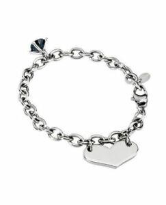 【送料無料】アクセサリー ネックレス 2jewels bracciale donna cuore in acciaio e cristallo nero italian design 231283